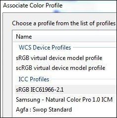 sRGB IEC61966-2.1 color profile