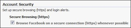 Facebook HTTPS secure connection