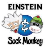 Einstein Sock Monkey art