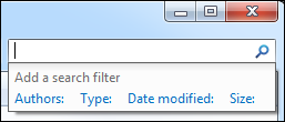 windows 7 search filter