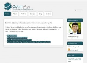 OptimWise website screenshot