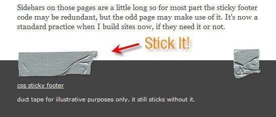 sticky footer for wordpress