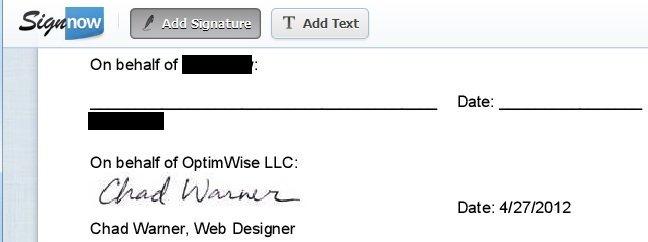 SignNow.com add signature