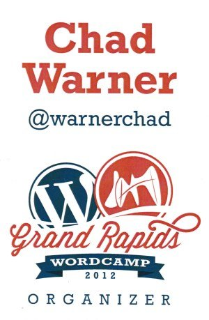 WordCamp Grand Rapids 2012 badge