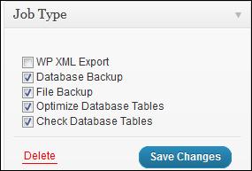 Automatic free WordPress backups: BackWPup plugin