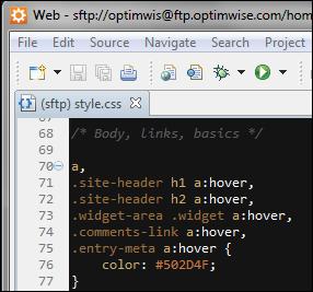 Web design software: IDE, editor, FTP, graphics, etc.