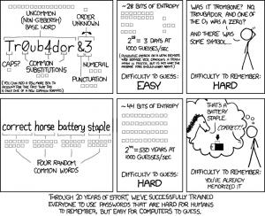 Secure, memorable passwords