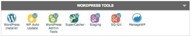 SiteGround cPanel WordPress Tools