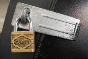 Guard brand padlock