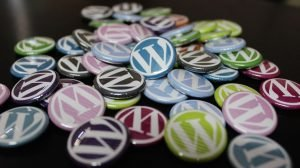 WordPress logo pins