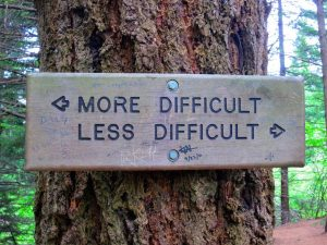 more difficult less difficult sign