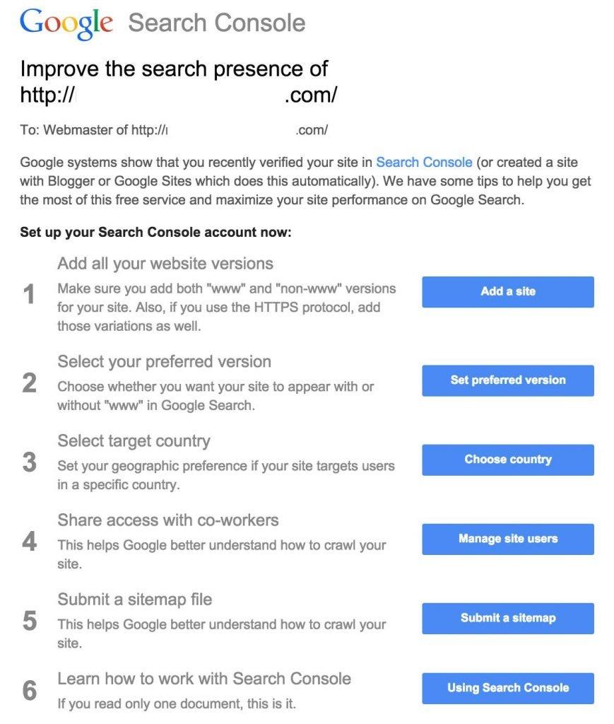 Google Search Console Improve Search Presence