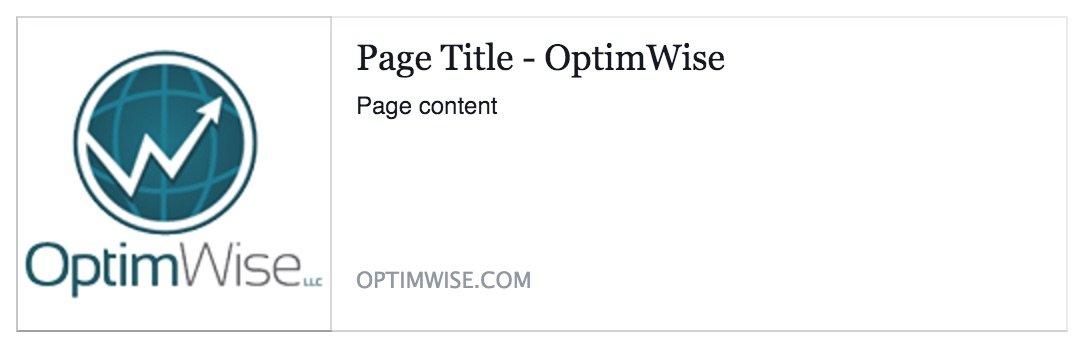 Default image in Facebook post