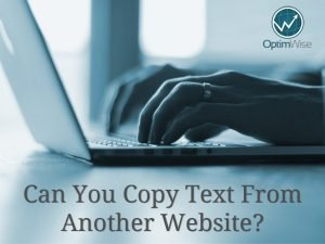 Can You Copy Text From Another Website?