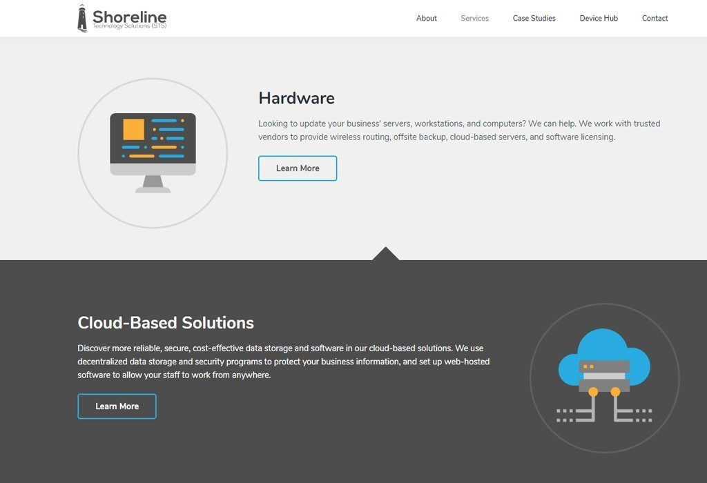 Shoreline Technology Solutions services page