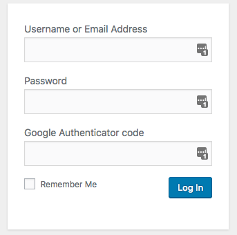 Google Authenticator on WordPress login