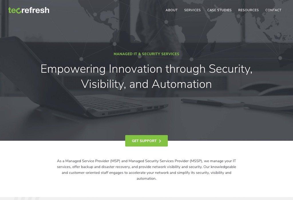 Tec-Refresh homepage OptimWise